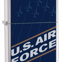 Zippo United States Air Force Brushed Chrome Lighter