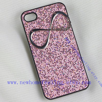 Directioner Infinity Iphone Case, One Direction Iphone 4 Case, Iphone 4S case, Shiny Pink 1D Iphone 4 4S Case