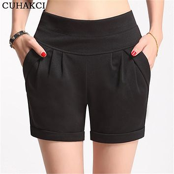 High Top quality summer Shorts Women Candy Color High-Waist Imitate Chiffon Short Solid Boots Shorts Casual Wear Plus Size S-4XL