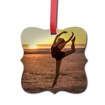 Ballet on The Beach Hardboard Polygon Ornament - Hardboard Polygon Ornament