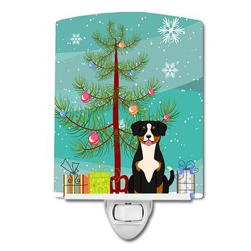 Merry Christmas Tree Entlebucher Ceramic Night Light BB4163CNL