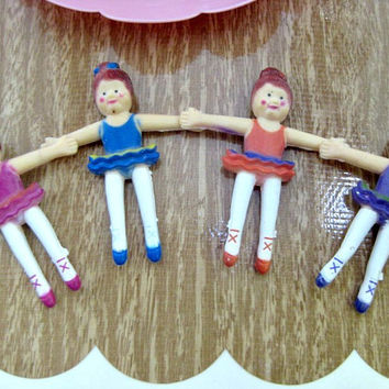 12 Bendable Ballet/Ballerina Party Favors