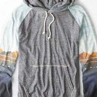 AEO Men's Graphic Hoodie T-shirt (Gravel Heather)