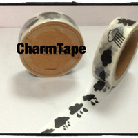 Washi tape - Raining clouds - 15mm Wide - 11 yards  WT421