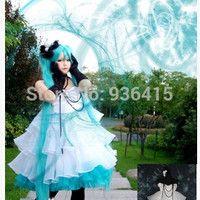 Free shipping Anime Vocaloid Magician cosplay white Dress Loro Rita maid outfit Halloween costume for women party/christmas