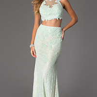 Two Piece Floor Length JVN by Jovani Dress