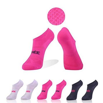 No Show Socks Women Athletic Low Cut Non Skid with Grips for HospitalYogaGym 6 Pairs