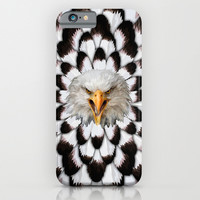 Eagle and feather Pattern Digital Art painting iPhone 4 4s 5 5c 6, pillow case, mugs and tshirt iPhone & iPod Case by Three Second