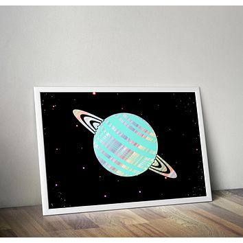 Reiki Charged Saturn Planet Poster Bohemian Art Print Poster With Design no frame 20x30 Large