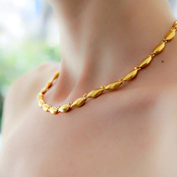gold necklace, 24 karat gold plated, single strand, delicate necklace, wedding, bridal jewelry, fine, statement necklace, dainty necklace