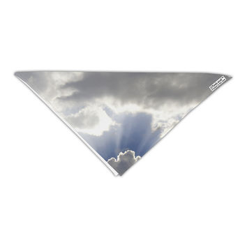 """Blue Sky Silver Linings Adult 19"""" Square Bandana All Over Print"""