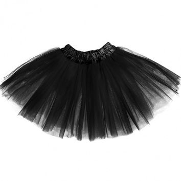 New Fashion Kid Girls Fashion Multilayer Elastic Waist Pleated Skirt