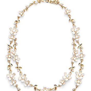 kate spade new york 'pretty petal' double strand necklace   Nordstrom