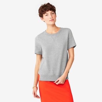 Kate Spade Saturday Rib-trim Sweatshirt In Fleece Terry