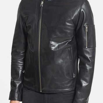 Men's Tiger of Sweden 'Rikki' Trim Fit Asymmetrical Leather Biker Jacket