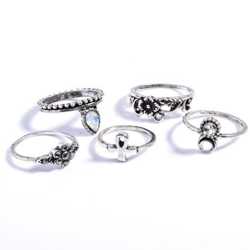 Vintage Exotic Ring Set