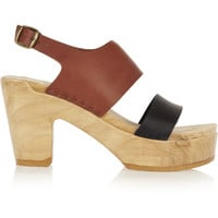 No.6 Store - Two-tone leather sandals