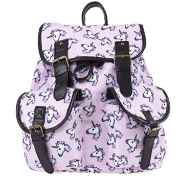 Creative Women's Canvas Lightweight Unicorn Backpack Travel Bag School Bag Daypack
