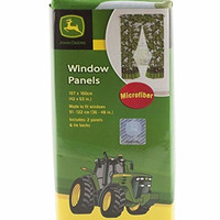"John Deere Green Tractor Window Panels / Curtains / Drapes - Set of 2 (42"" x 63"")"