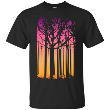 magic indian summer trees abstract fall art tank tops & T-Shirt