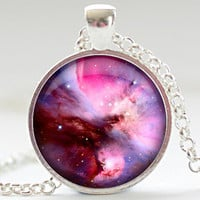 Nebula Necklace Space Galaxy Art Pendant  Nebula by FrenchHoney