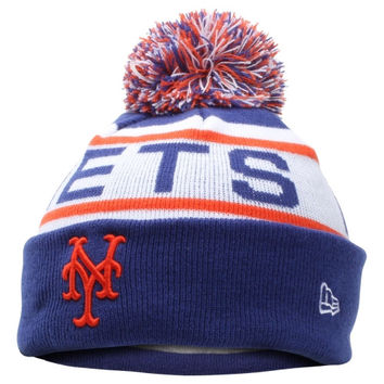 New York Mets New Era Preschool Redux Knit Beanie – Royal Blue/White - http://www.shareasale.com/m-pr.cfm?merchantID=7124&userID=1042934&productID=547700649 / New York Mets