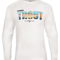 Men's Rainbow Trout L/S UV Fishing T-Shirt