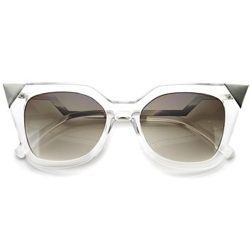 Modern Horn Rimmed Hot Tip Cat Eye Sunglasses A055