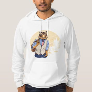 T-Shirt hoodie Social Tiger Illustration 3