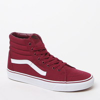Vans SK8-Hi Maroon and White Shoes at PacSun.com