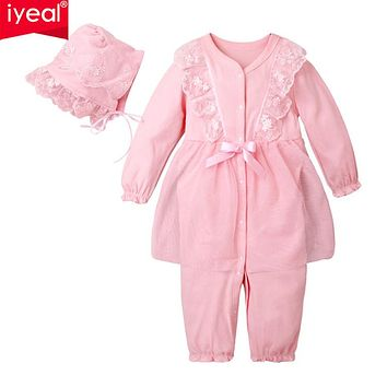 Baby Girl Rompers With Hat Cotton Lace Flower Jumpsuit Floral Infant Clothing Princess Toddler Romper Newborn Baby Clothes
