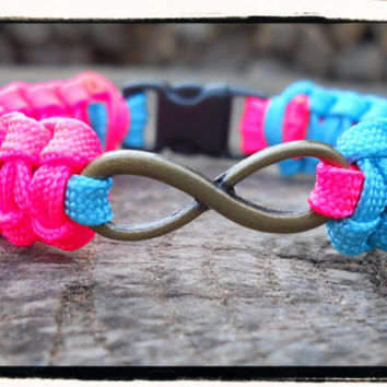 Pink and Blue INFINITY Bracelet