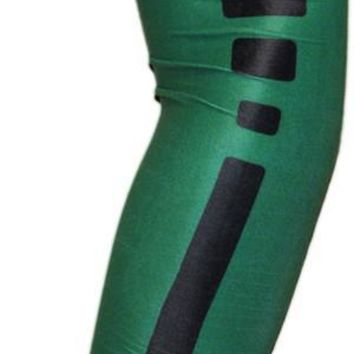 ARM SLEEVE ● Green with Black Stripe Elite