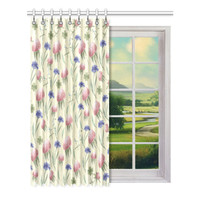 "Window curtains - 1 piece, 52"" wide, Variable Length, Home, Decor, Bedroom, Kitchen, Style, Pink, Grey, Beige, Designer, Abstract, Modern"