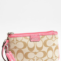 COACH 'Signature - Small' Wristlet | Nordstrom