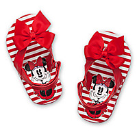 Minnie Mouse Flip Flops for Baby - Red