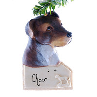 Pit Bull Personalized ornament - american pit bull Christmas ornament - personalized dog ornament