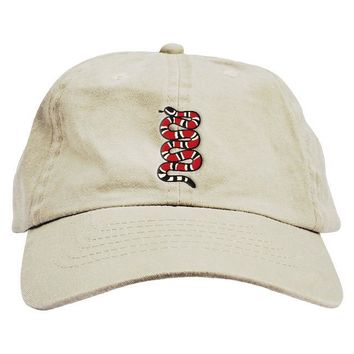 Red Snake Dad Hat