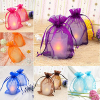 100 pieces Sheer Organza Wedding Party Favor Decoration Gift Candy Pouch Bag = 1932924868