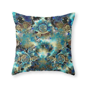 Society6 Glass Donut Worl Throw Pillow