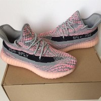 "Fashion ""Adidas"" Yeezy 350 Boost Gray/Pink Leisure Sports shoes"