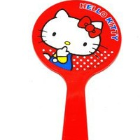 Hello Kitty Handheld Mirror Red Japan Imported