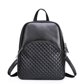 ZENCY Backpacks Fashion Famous Brand Real Leather Backpack Women Female Genuine Leather Backpack Cowhide Bags