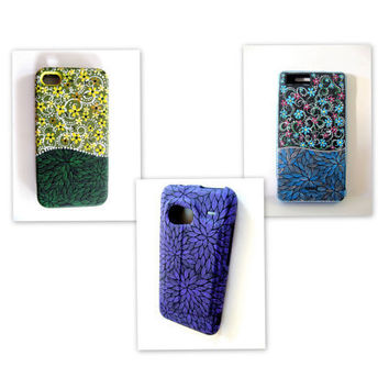 Hand Painted Phone Case: Hand painted Custom Cell Phone Case