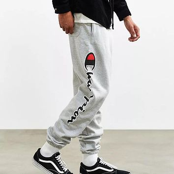 Champion Women Men Fashion Casual Pattern Print Pants Trousers