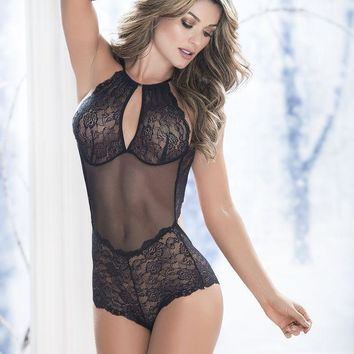 CREYONS Special Night Lace Teddy