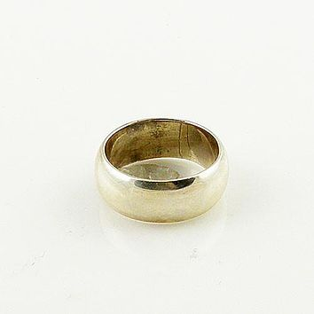Sterling Silver Domed Band Ring