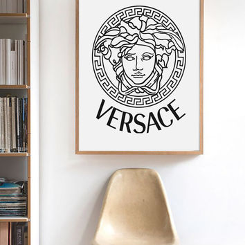 Versace Wall Art,  Versace Logo Wall Art, Versace Logo, Versace Art ,  Fashion Print Art, Fashion Wall Art, Versace Picture, Fashion Poster