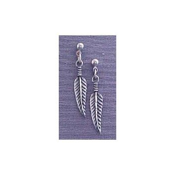 SALE Closeout Native American Feather Pewter Earrings EM330