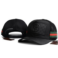 GUCCI Women Men Breathable Adjustable Travel Hat Sport Cap
